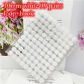 White 10mm 99Pairs