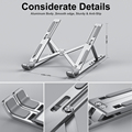 Portable Laptop Stand Aluminium Foldable Notebook Support Laptop Base Macbook Pro Holder Adjustable Bracket Computer Accessories preview-6