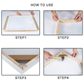 Natural Pine Wooden Painting Frame Custom Photo Frame DIY Large Size Wood Frame for Picture Poster Wall Canvas Painting Cadre preview-4
