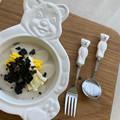 Cute Bear Spoon Fork Ceramic Dessert Spoons Dinnerware Cutleries Cartoon Spoon Fork Butter Kinfe Set preview-3