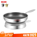 AIWILL New Kitchen High Quality 316 /304 Stainless Steel Frying Pan Nonstick Pan Fried Steak Pot Electromagnetic Furnace General preview-1