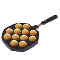 Takoyaki Pan Octopus Small Balls Cast Aluminium Pan Household Baking Cooking Tools Kitchen Cookware Grill Pan preview-3