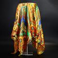 Luxury Brand Scarf Women Fashion Designer Beautiful Foulard Soft Satin Shawl Silk Kerchief 90*90cm Square Neck Headscarf Bandana preview-5