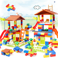 Classic Big Size Building Blocks House Roof Big Particle Assembly Construction Block Plastic Castle DIY Bricks Toys For Children preview-2