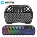 VONTAR Israel Hebrew English Language Mini Keyboard 2.4G i8  Wireless Mini Keyboard Touchpad Mouse Combo For Tv box mini pc ps3 preview-2