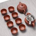 Handmade Purple Clay Kung Fu Tea Set Yixing Teapot Drinkware Tea Pot Cup Set ,Zisha Ceramic Chinese puer Teaset kettle preview-3