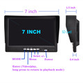 7 inch IPS 2 split screen 1024*600 AHD Car Monitor Driving recorder DVR, Cameras optional preview-4