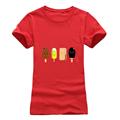 T shirt women Fashion summer colour Popsicle print short sleeve t-shirts comfortable brand cotton women tee tops preview-4