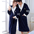 Thicken Warm Couple Style Flannel Robe Winter Long Sleeve Bathrobe Sexy V-Neck Women Men Nightgown Lounge Sleepwear Home Clothes preview-2