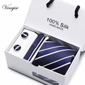 New Plaid  men ties set  Extra Long Size 145cm*7.5cm Necktie navy blue Paisley Silk Jacquard Woven Neck Tie Suit Wedding Party preview-4