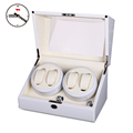 High-end 4+0 BB Type Full White Watch Winder box Glossy Wooden 4 seats 5 Modes Watch Winder preview-1