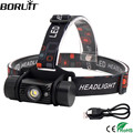 BORUiT RJ-020 XPE LED Induction Headlamp 1000LM Motion Sensor Headlight 18650 Rechargeable Head Torch Camping Hunting Flashlight preview-1