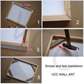Natural Wooden DIY Frame For Canvas Painting Posters Photos Frames,60X90 50x75 Picture Frame,Longlife Wood Custom Poster Frame preview-5