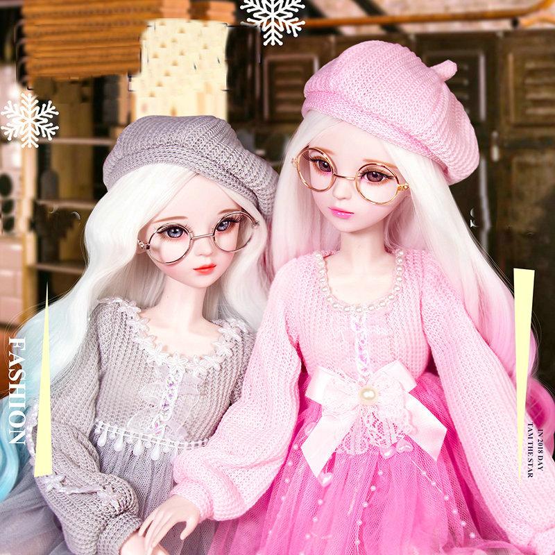 Lifelike Fashion Girl 1/3 Bjd Doll Full Set 60cm Large Original Handmade Ball Jointed Dolls Children Toys For Girl Birthday Gift