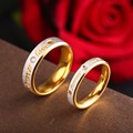 RIR Custom Name Gold Forever Love Wedding Rings Couple Eternity Engagement Heart and Crystal Men Women Ring In Stainless Steel preview-5