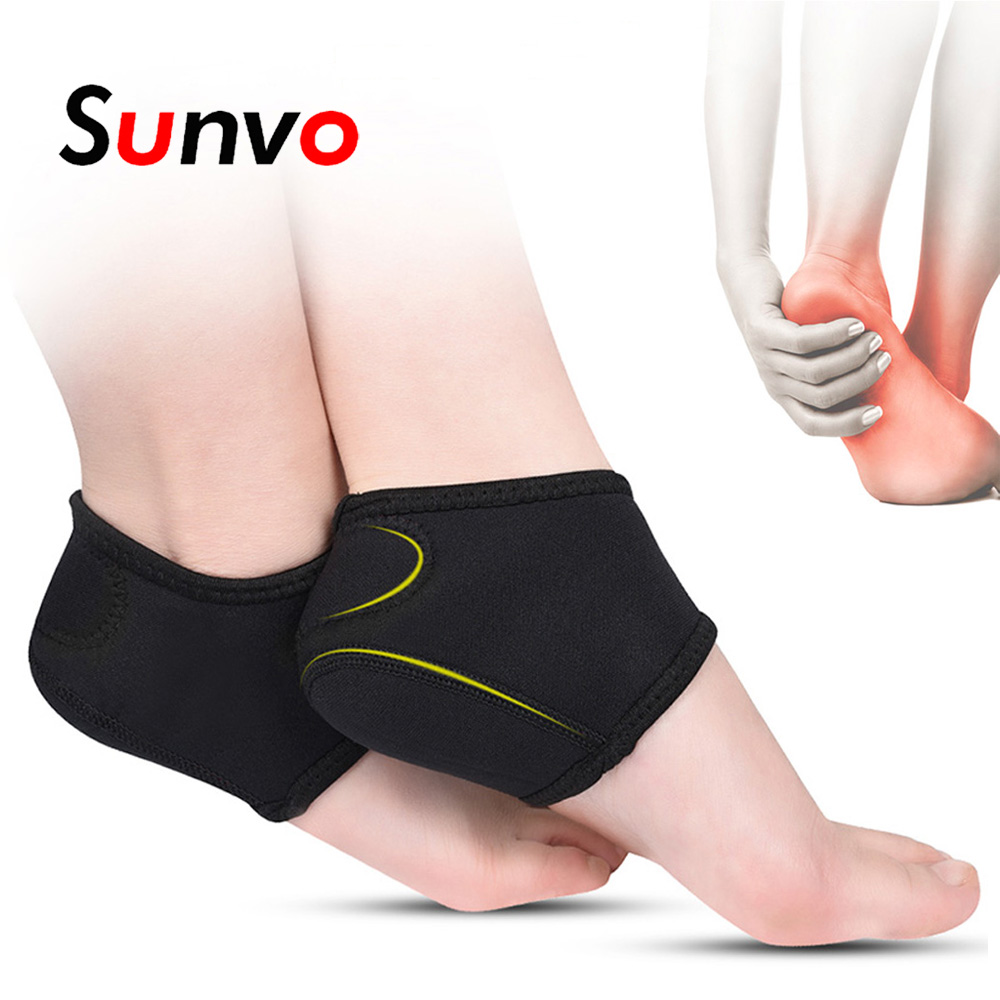 Sunvo Heel Cushion Socks for for Men Women Plantar Fasciitis Achilles Tendonitis Calluses Spurs Cracked Pain Relief Inserts Pads