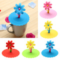 Multicolor Sunflower Dustproof Reusable Silicone Anti-dust Cap Cup Lid DIY Leakproof Cover Insulation Cup Cover preview-1
