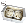 High-end 4+0 BB Type Full White Watch Winder box Glossy Wooden 4 seats 5 Modes Watch Winder preview-2