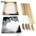 Natural Wooden DIY Frame For Canvas Painting Posters Photos Frames,60X90 50x75 Picture Frame,Longlife Wood Custom Poster Frame preview-2