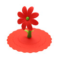 Multicolor Sunflower Dustproof Reusable Silicone Anti-dust Cap Cup Lid DIY Leakproof Cover Insulation Cup Cover preview-5