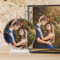 Customized Round Shape Crystal Glass Photo Frame Personalized Picture Frame Photo Album For Birthday Friends Gifts Home Decor preview-1