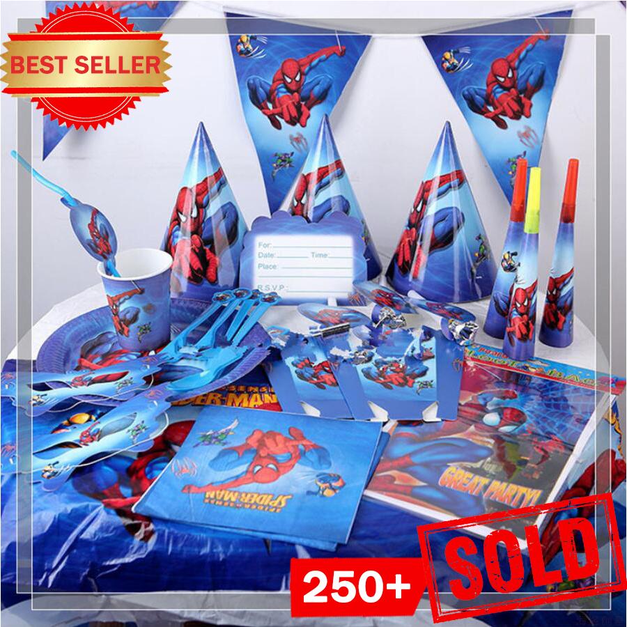Superhero Spiderman Birthday Party Supplies Tablecloth Balloons Favors Kids SpiderMan Theme Birthday Party Decorations Boy Set