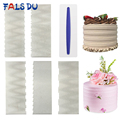 1pcs Stainless Steel Cake Decorating Tools Cake Scrapers Pastry Comb Smoother Cream Decorating Baking Tools Kitchen Baking Mold preview-1