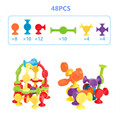 16-48pcs/set Pop Little Suckers Assembled Sucker Suction Cup Educational Building Block Toy Girl&Boy Kids Gifts Fun Game preview-3