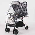 Stroller Accessories Waterproof Rain Cover Transparent Wind Dust Shield Zipper Open Raincoat For Baby Strollers Pushchairs Rainc preview-1