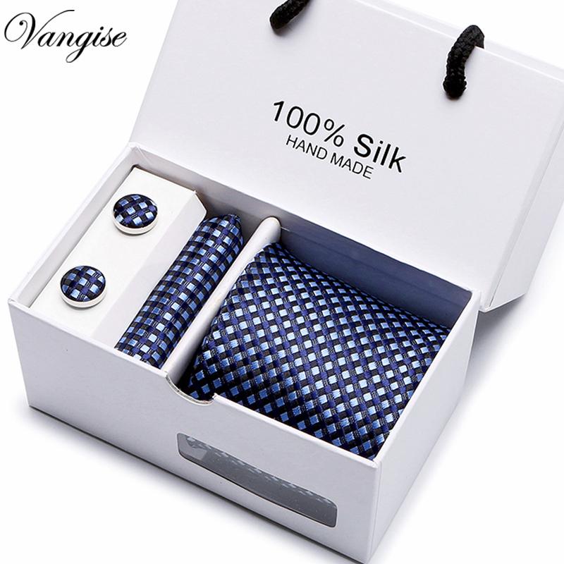 New Plaid  men ties set  Extra Long Size 145cm*7.5cm Necktie navy blue Paisley Silk Jacquard Woven Neck Tie Suit Wedding Party