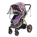 Stroller Accessories Waterproof Rain Cover Transparent Wind Dust Shield Zipper Open Raincoat For Baby Strollers Pushchairs Rainc preview-2