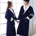 Thicken Warm Couple Style Flannel Robe Winter Long Sleeve Bathrobe Sexy V-Neck Women Men Nightgown Lounge Sleepwear Home Clothes preview-3