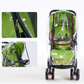 Stroller Accessories Waterproof Rain Cover Transparent Wind Dust Shield Zipper Open Raincoat For Baby Strollers Pushchairs Rainc preview-5