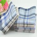 10Pcs/lot 38*38cm Soft Cotton Handkerchief Classic Check Striped Pattern Comfort Vintage Square Handy Pocket Women Men 6557 preview-2