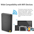 SSK Portable Wireless External Hard Drive  Smart Hard Disk 1TB Cloud Storage WiFi Remote Access HDD Case for Tablet Laptop USB preview-5