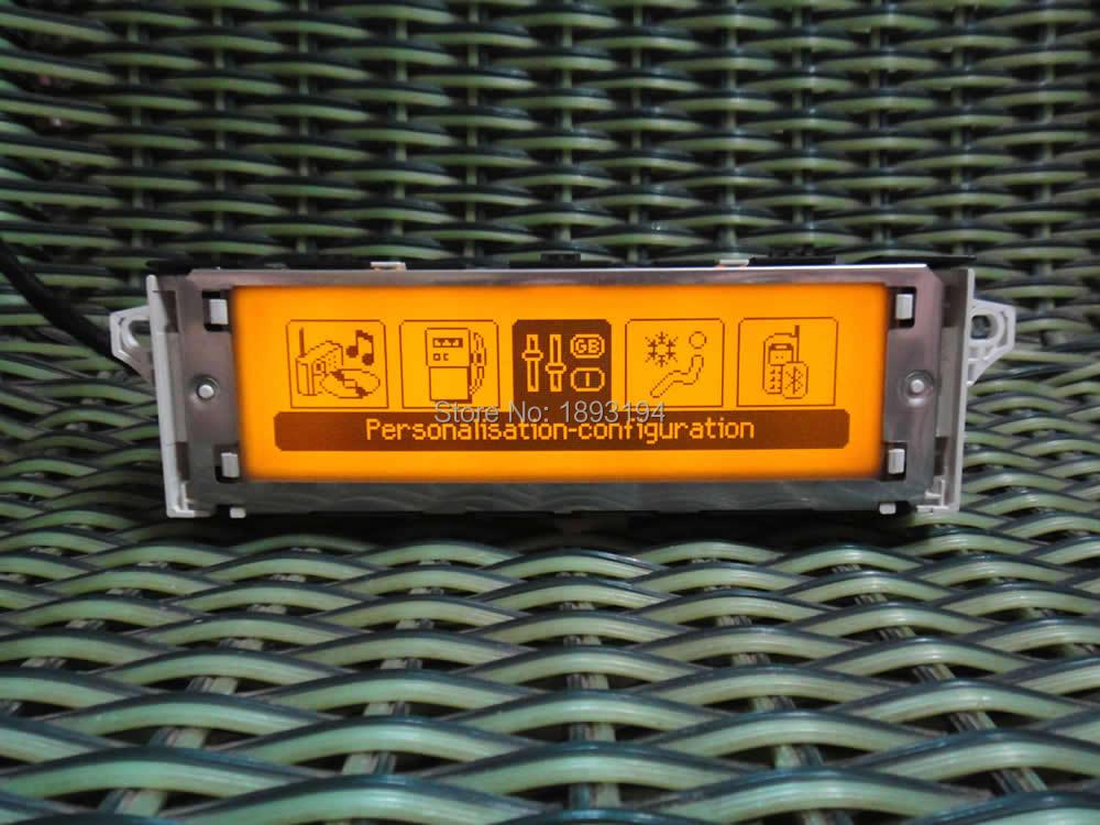 Original Screen support USB Dual-zone air Bluetooth Display (Yellow) monitor 12pin for Peugeot 307 407 408 5008 citroen C4 C5