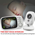 3.2 inch Wireless Video Color Baby Monitor High Resolution Baby Nanny Security Camera  Night Vision Temperature Monitoring preview-3