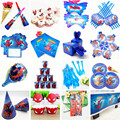 Superhero Spiderman Birthday Party Supplies Tablecloth Balloons Favors Kids SpiderMan Theme Birthday Party Decorations Boy Set preview-2