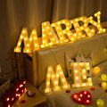 Luminous LED Letter Night Light Creative 26 English Alphabet Number Battery Lamp Wedding Decoration Valentine's Day Gift preview-2