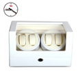 High-end 4+0 BB Type Full White Watch Winder box Glossy Wooden 4 seats 5 Modes Watch Winder preview-3