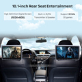 """Seicane 2pcs 10.1"""" Headrest Car DVD Player HD 1024*600 Monitor with Touch Button Mp3 Players USB SD HDMI Input 32 Bit Games preview-6"""