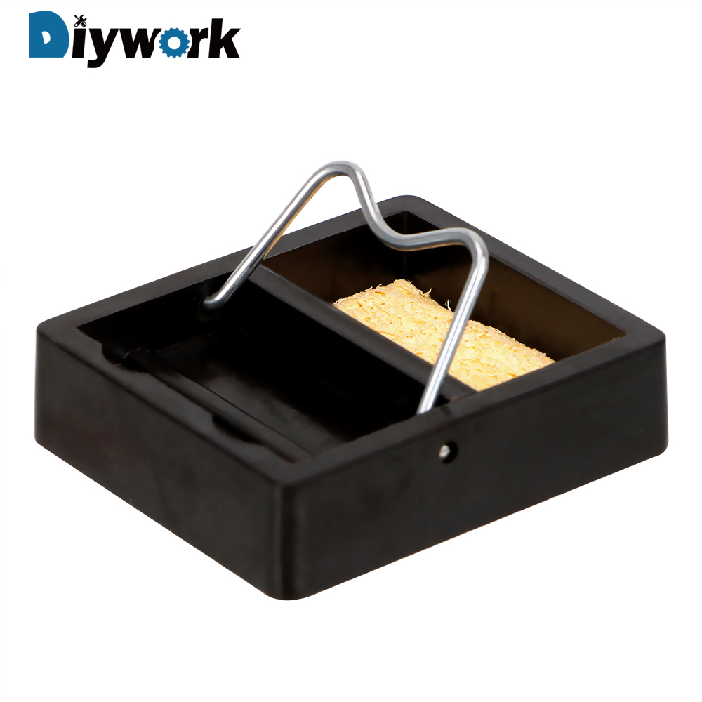 DIYWORK Electric Soldering Iron Stand Holder Metal Support Station Small And Simple Soldering Iron Frame With Solder Sponge
