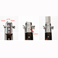 1pcs Automatic Stainless Steel Combs Foldable Knife Brushes Hair Trimmer Comb Brush Accessories butterfly Mens Pocket Knife Comb preview-3