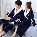 Thicken Warm Couple Style Flannel Robe Winter Long Sleeve Bathrobe Sexy V-Neck Women Men Nightgown Lounge Sleepwear Home Clothes preview-4