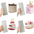 1pcs Stainless Steel Cake Decorating Tools Cake Scrapers Pastry Comb Smoother Cream Decorating Baking Tools Kitchen Baking Mold preview-3