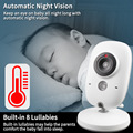 3.2 inch Wireless Video Color Baby Monitor High Resolution Baby Nanny Security Camera  Night Vision Temperature Monitoring preview-2