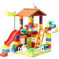 Classic Big Size Building Blocks House Roof Big Particle Assembly Construction Block Plastic Castle DIY Bricks Toys For Children preview-3