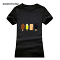 T shirt women Fashion summer colour Popsicle print short sleeve t-shirts comfortable brand cotton women tee tops preview-3