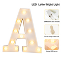 Luminous LED Letter Night Light Creative 26 English Alphabet Number Battery Lamp Wedding Decoration Valentine's Day Gift preview-6