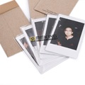 10pcs Photo Protector Transparency Film 55*88mm instax Photo Paper Protector for Fujifilm Mini Film Frame wood color Camera preview-3